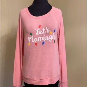 Pj Salvage Let's Flamingo Holiday Pullover
